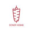 simple line art doner kebab vector image vector image