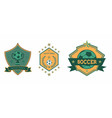 soccer club logo sets star ball vector image vector image