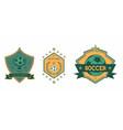 soccer club logo sets star ball vector image