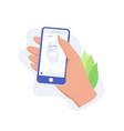 social media app concept vector image vector image