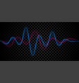 sound wave voice line or pulse abstract background vector image vector image