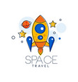 space travel logo design template exploration of vector image