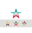 star colored logo vector image vector image