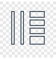 tile concept linear icon isolated on transparent vector image