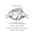 vintage wedding set with greenery wedding vector image vector image