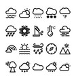 weather line icons set 2 vector image vector image