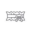 wedding garter line icon concept wedding garter vector image vector image
