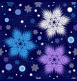 winter seamless christmas dark blue pattern vector image vector image