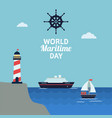 world maritime day celebration vector image vector image