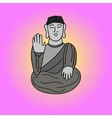 Buddha pop art vector image