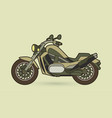 green motorbike side view graphic vector image