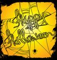 Halloween with net vector image