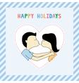 Happy holidays8 vector image