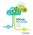 Cloud Social Media Network concept background vector image