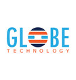globe technology logo vector image