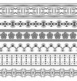 set of black seamless vector image