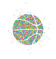 abstract basketball icon vector image vector image