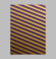 abstract gradient stripe flyer template design vector image vector image