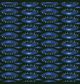 Abstract wave symbol dark blue and green