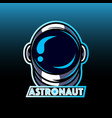 astronaut head mascot logo vector image vector image