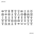 award outline icons perfect pixel vector image