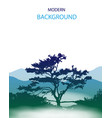 background mountain landscape vector image vector image