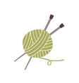 ball yarn thread and knitting needles isolated vector image