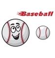 Baseball cartoon ball vector image vector image