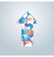 blue and pink patterned colorful arrow vector image