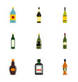 bottle packaging icon set flat style vector image vector image