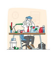 business man stress and frustration concept tired vector image vector image