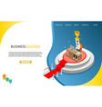 business success landing page website vector image vector image