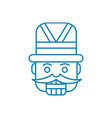 carnival costume linear icon concept carnival vector image vector image