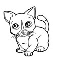 cartoon cute cat coloring page vector image