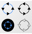 ccw circulation arrows eps icon with vector image vector image