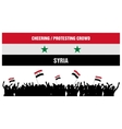 Cheering or Protesting Crowd Syria vector image vector image