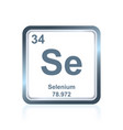 chemical element selenium from the periodic table vector image vector image