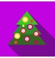 Christmas tree icon flat style vector image vector image