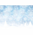 christmas winter on blue background white snow vector image vector image