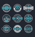 Circle vintage and retro badge design collection