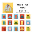 clothes set icons in flat style big collection vector image vector image