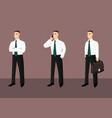 collection of standing businessmen in tie vector image vector image