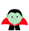 count dracula headwearing black and red cape cute vector image vector image