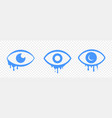 crying tears eye cartoon sad emotion icons vector image vector image