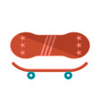 cute red skateboard model vector image