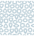 diamonds seamless pattern vector image vector image