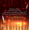 Diwali crackers background vector image vector image