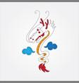 dragon cartoon image vector image