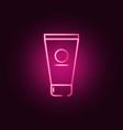 Face cream neon icon elements antiaging set