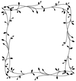 frame with floral ornament on a white background vector image